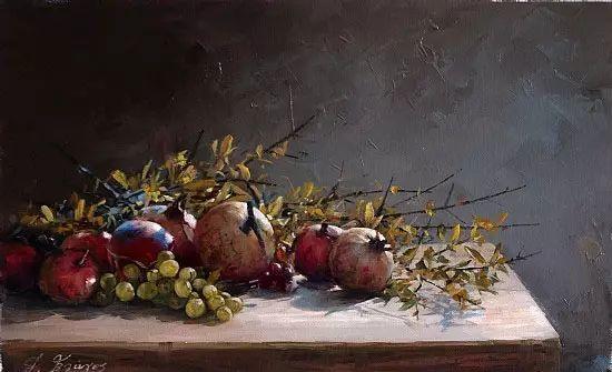 希腊Demetrios Vlachos油画静物欣赏插图39