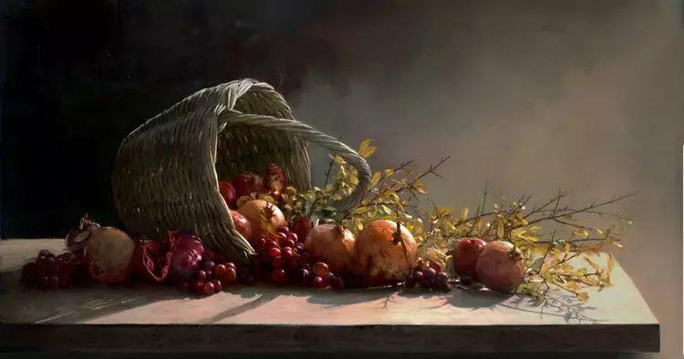 希腊Demetrios Vlachos油画静物欣赏插图43