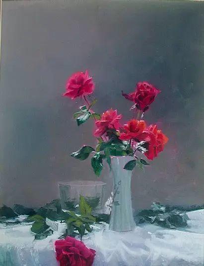 希腊Demetrios Vlachos油画静物欣赏插图45