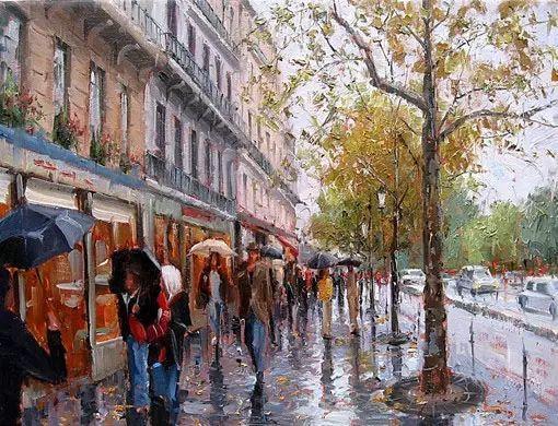油画世界 油画街景插图21
