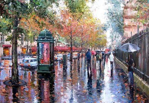 油画世界 油画街景插图25