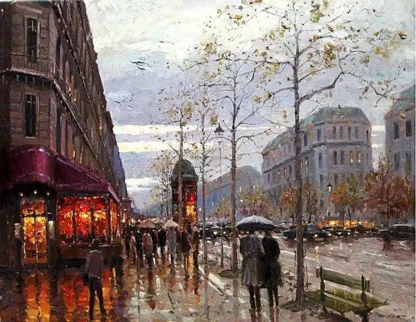 油画世界 油画街景插图35