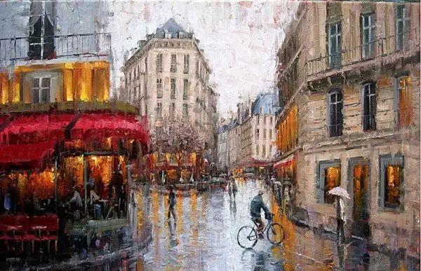 油画世界 油画街景插图39
