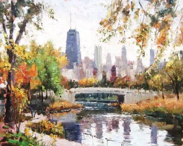 油画世界 油画街景插图45