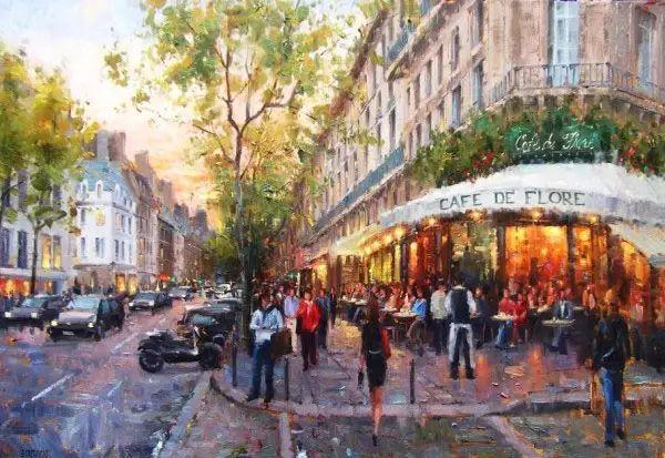 油画世界 油画街景插图49