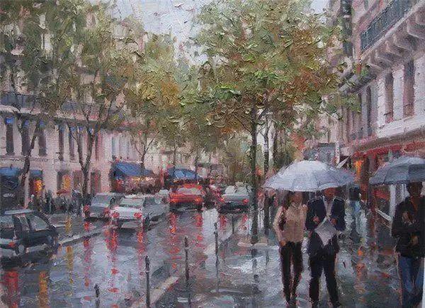 油画世界 油画街景插图73