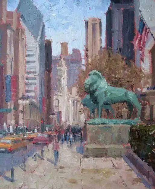 油画世界 油画街景插图77