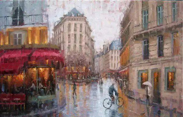 油画世界 油画街景插图79
