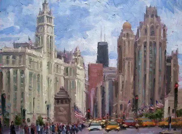 油画世界 油画街景插图87