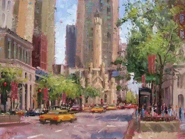 油画世界 油画街景插图91