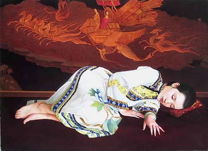 人物油画:睡美人插图3