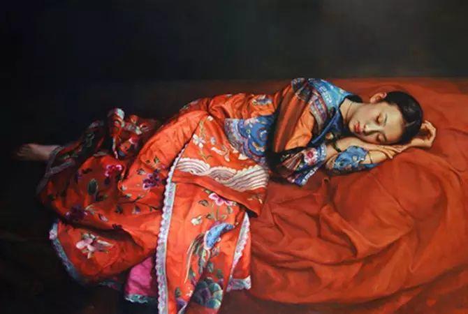 人物油画:睡美人插图5