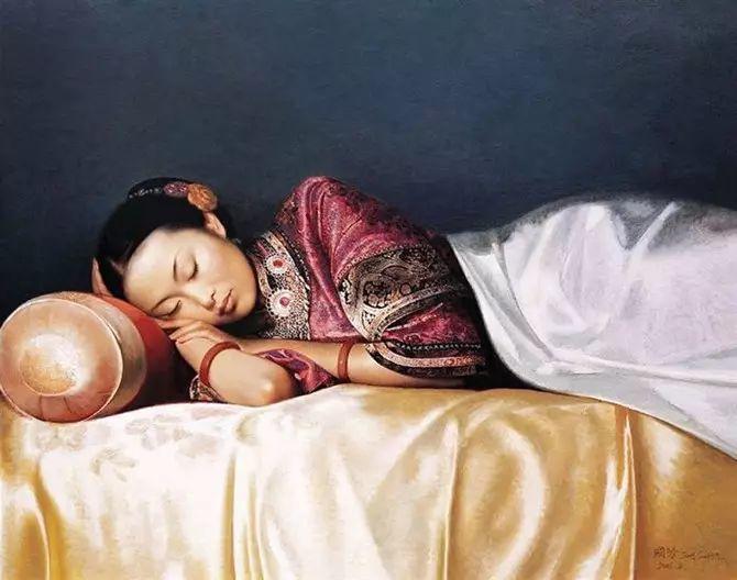 人物油画:睡美人插图7