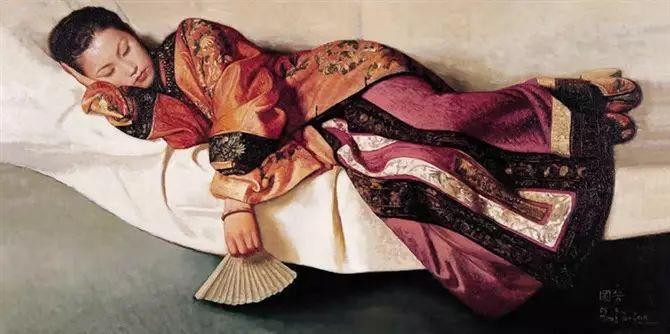 人物油画:睡美人插图9