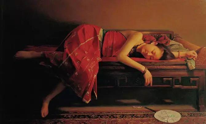人物油画:睡美人插图11