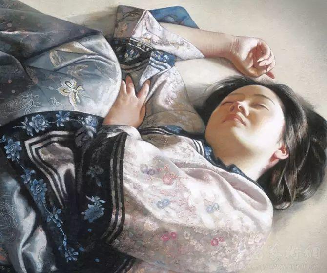 人物油画:睡美人插图17