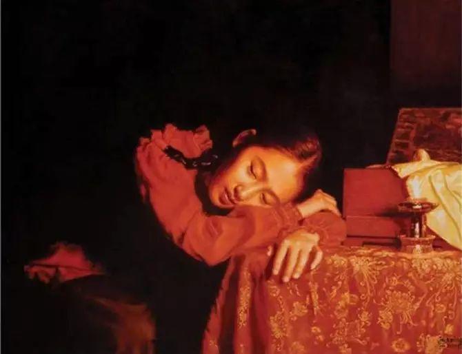 人物油画:睡美人插图19