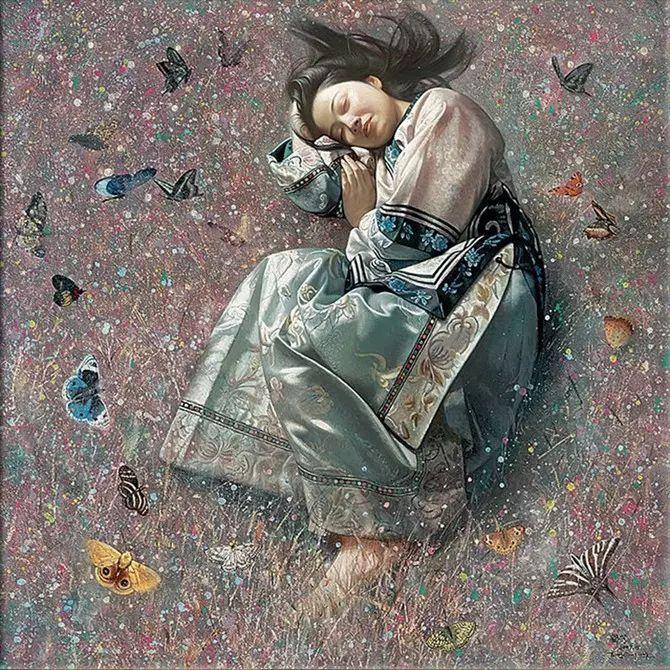 人物油画:睡美人插图23