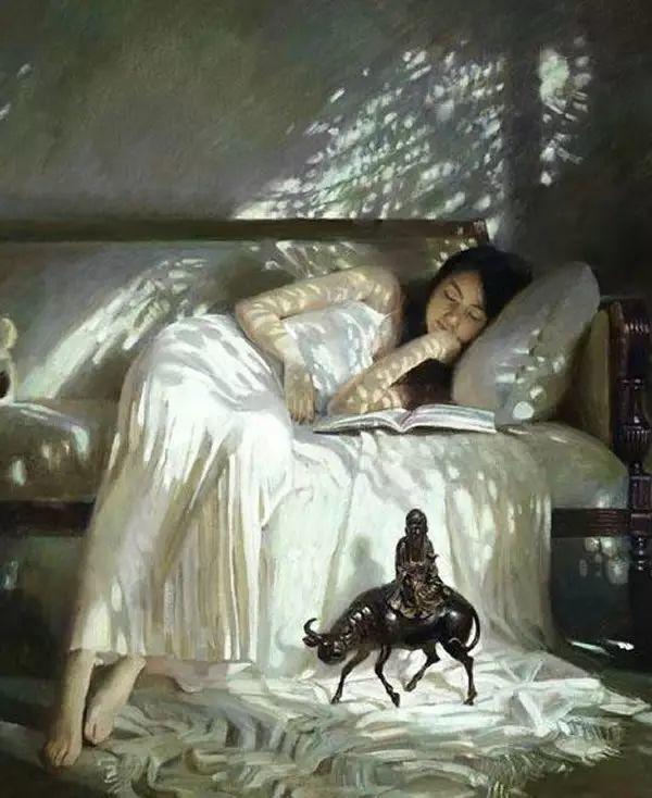 人物油画:睡美人插图31