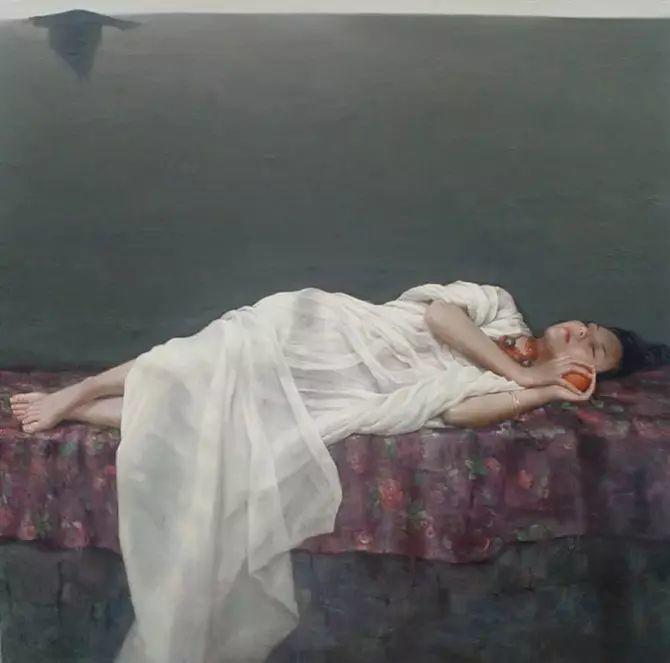 人物油画:睡美人插图33