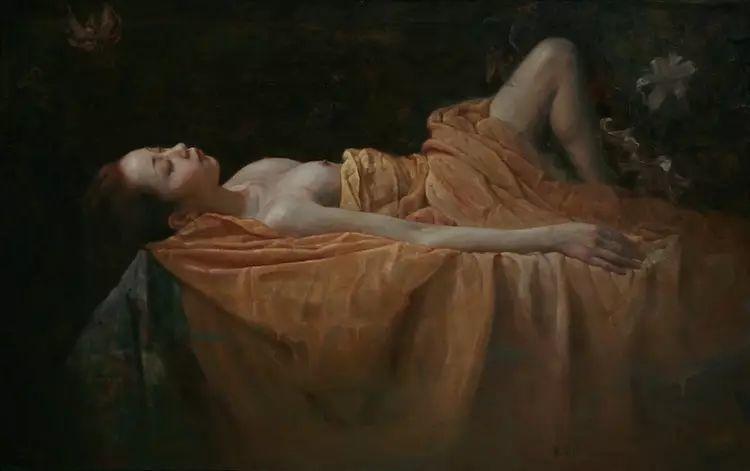 人物油画:睡美人插图35