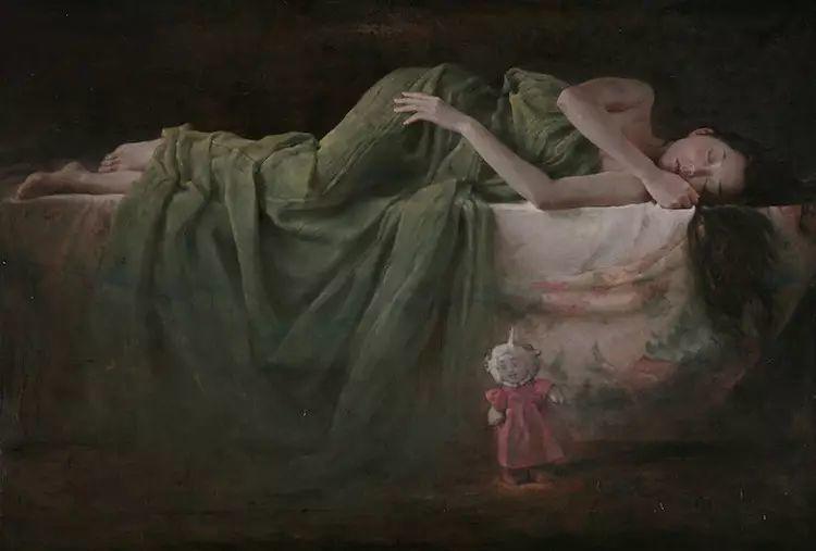 人物油画:睡美人插图37