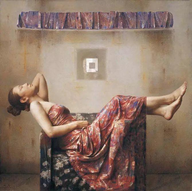 人物油画:睡美人插图39