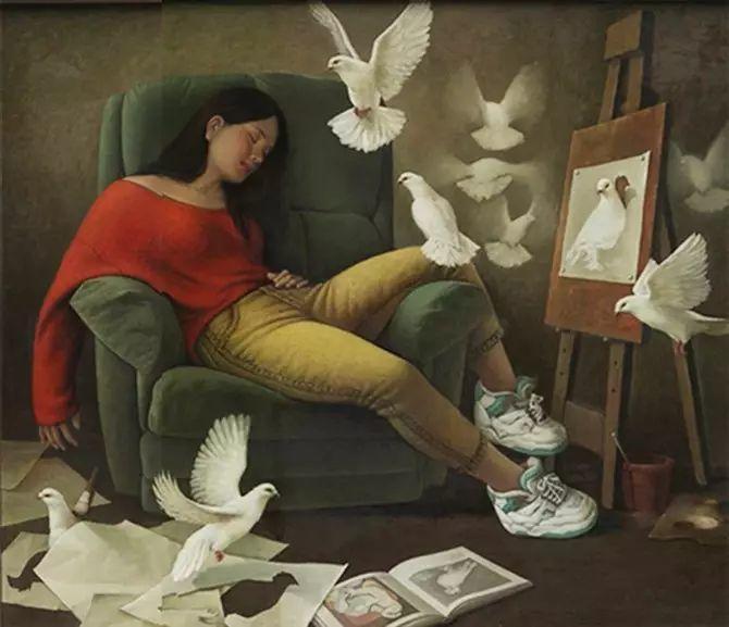 人物油画:睡美人插图41