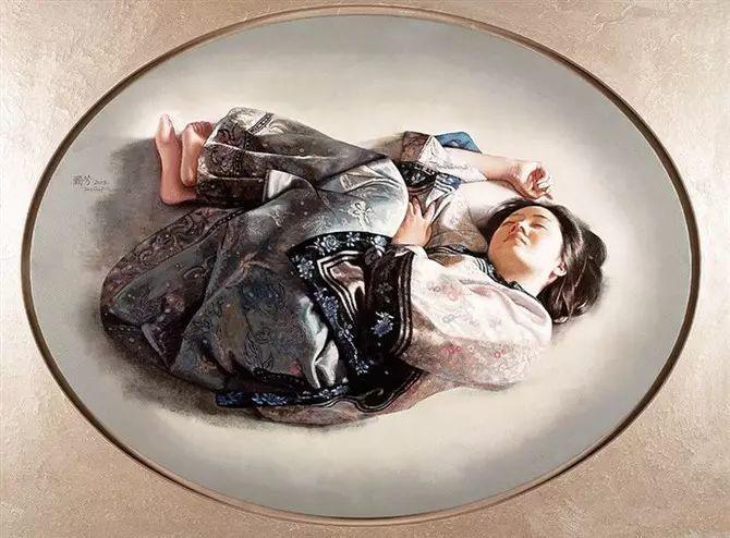 人物油画:睡美人插图43