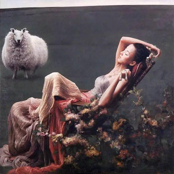 人物油画:睡美人插图47