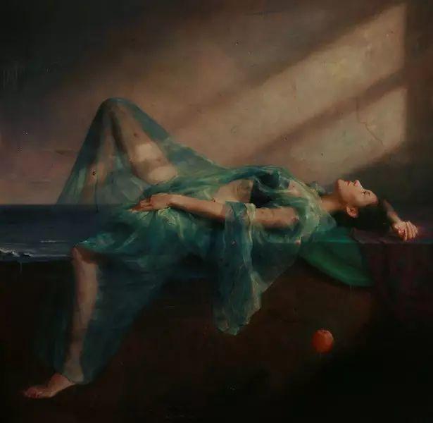 人物油画:睡美人插图55