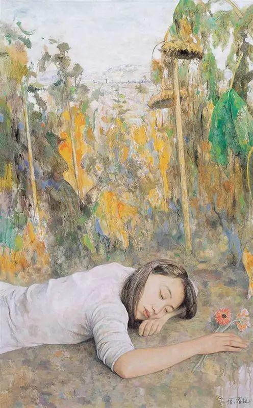 人物油画:睡美人插图57