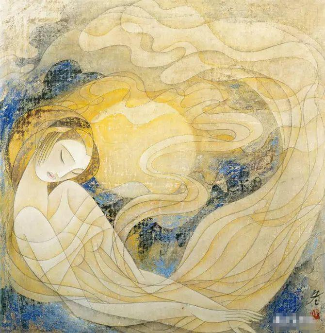 人物油画:睡美人插图61