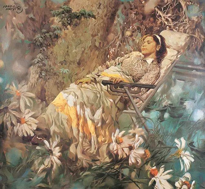 人物油画:睡美人插图65