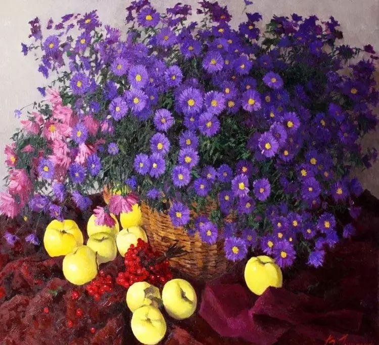乌克兰维克托·多佛贝恩科花卉静物画选插图25