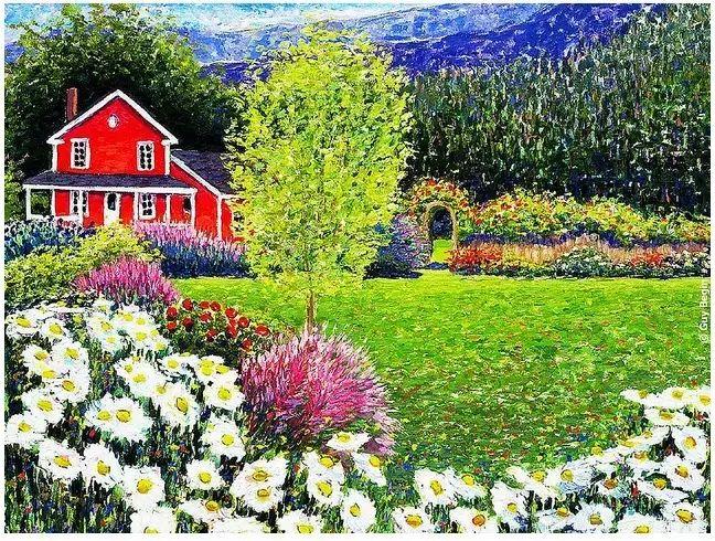 色彩饱满 加拿大Guy Begin油画风景欣赏插图17
