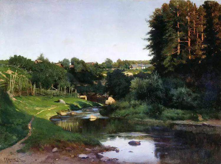 俄罗斯康斯坦丁风景油画作品插图1