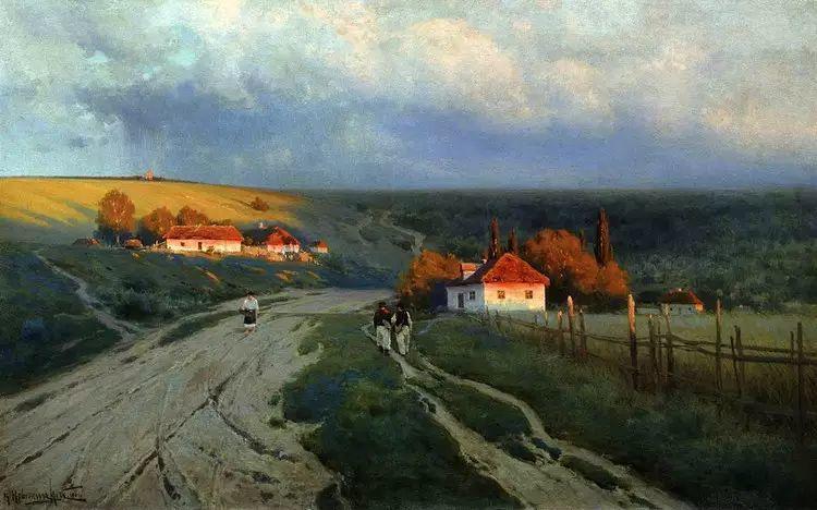 俄罗斯康斯坦丁风景油画作品插图5