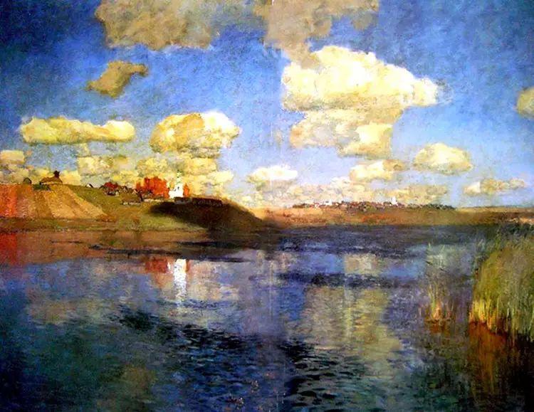俄罗斯康斯坦丁风景油画作品插图9