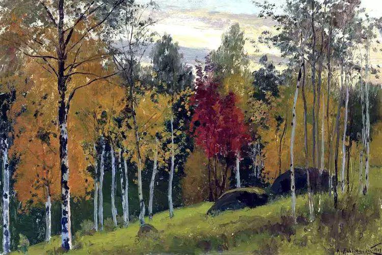 俄罗斯康斯坦丁风景油画作品插图11