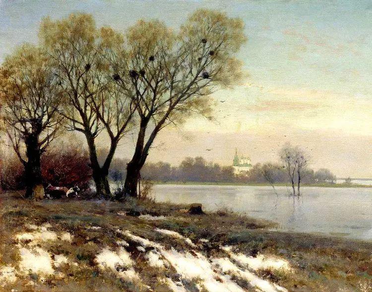 俄罗斯康斯坦丁风景油画作品插图21