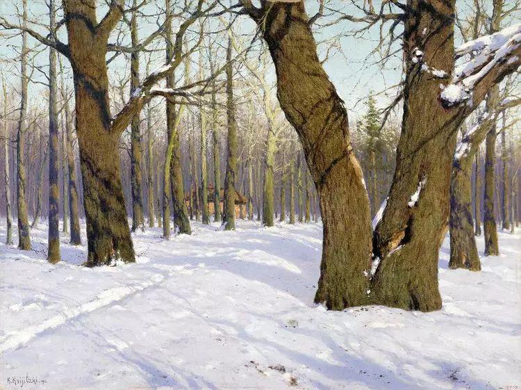 俄罗斯康斯坦丁风景油画作品插图23