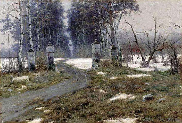 俄罗斯康斯坦丁风景油画作品插图25