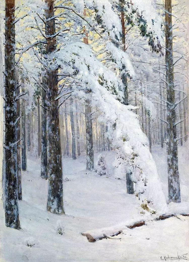 俄罗斯康斯坦丁风景油画作品插图29