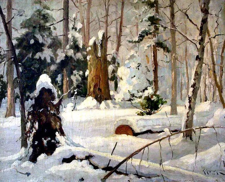 俄罗斯康斯坦丁风景油画作品插图33