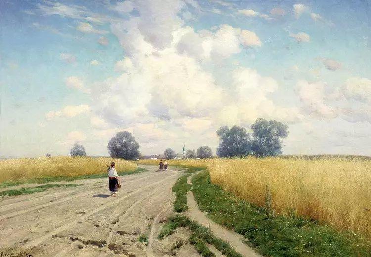 俄罗斯康斯坦丁风景油画作品插图35