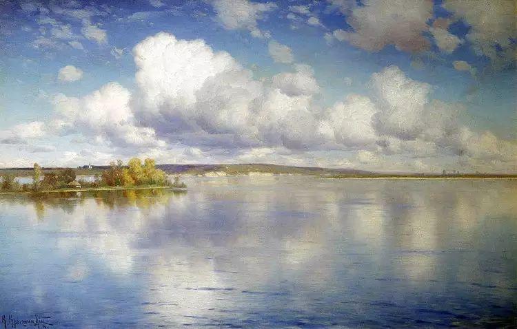 俄罗斯康斯坦丁风景油画作品插图37