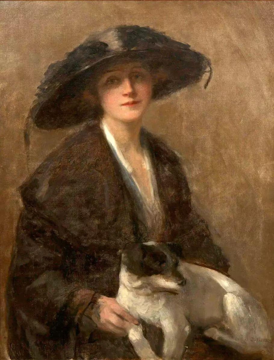 马背上的Godiva夫人作者油画作品欣赏插图1