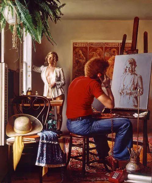 油画世界 美国道格拉斯霍夫曼作品插图53