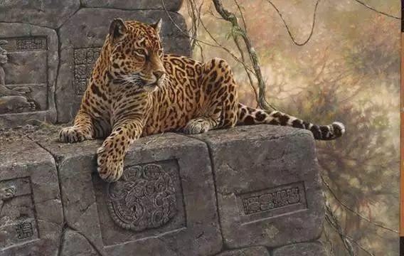 油画世界 英国艾伦·亨特猛兽动物画插图15